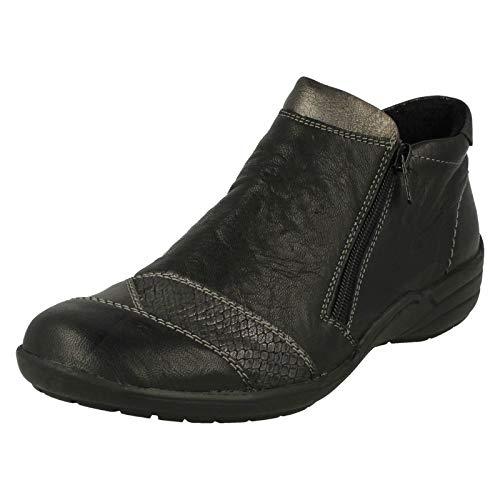 Remonte Dorndorf Women's Black Leather Low Heel Ankle Boot UK 9 EU 42 US 11