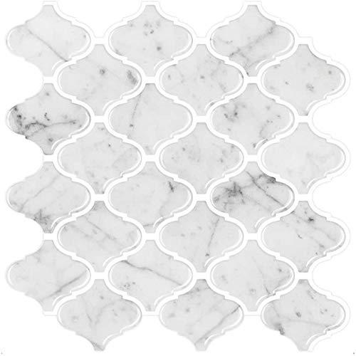Katigan Etiqueta de la Pared del Azulejo del PatróN de MáRmol de ImitacióN para la Cocina o el BaaO, Azulejo de la Pared 3D ExtraíBle Protector contra Salpicaduras 5 Piezas