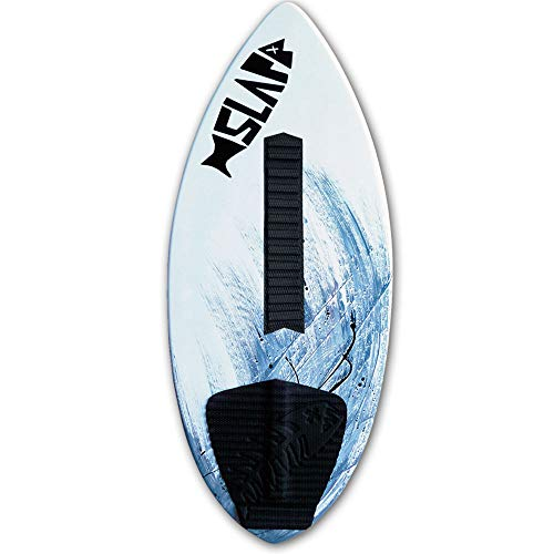 """Slapfish Skimboards USA Made 50"""" Fiberglass & Carbon - No Rider Weight Limit - with Traction Deck Grip - Kids & Adults - 4 Colors (Gray Board + Arch Bar)"""