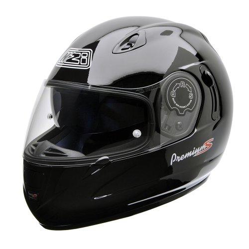 NZI 010193G047S Premium S Duo Casco de Moto, Negro, Talla S
