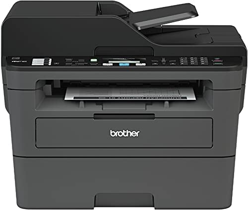Brother MFC-L2710 All-in-One Wireless Monochrome Laser Printer for Home Office – Print Copy Scan Fax, Auto Duplex Print, Speed Up to 32 ppm, 50-Sheet ADF, Amazon Alexa, AirPrint, BROAGE Printer Cable