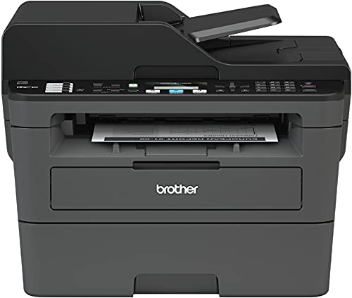 Brother MFC-L2710 All-in-One Wireless Monochrome Laser Printer for Home Office - Print Copy Scan Fax, Auto Duplex Print, Speed Up to 32 ppm, 50-Sheet ADF, Amazon Alexa, AirPrint, BROAGE Printer Cable
