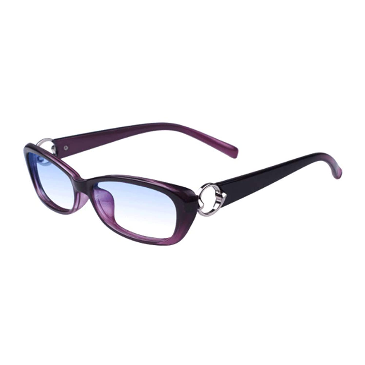 YUANJJ Stylish Women's Reading Glasses, Anti-Blu-Ray/Radiation-Proof Computer Glasses, Suitable for Mobile Phones/Computers/Games (Diopter 2.50)