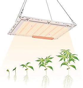 GAMERKING Lampada LED per Piante Grow Light con 350 Pezzi LED Full Spectrum Quantum Board Grow Light per Semina/Serra/Grow Box (A-120)