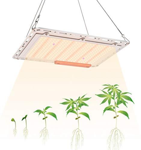 GAMERKING LED Plant Grow Light 1000W con 350 pcs LED Plant Light de Espectro Completo para Vegetales hidropónicos Plantas de Interior Flores y plántulas Invernadero Impermeable No Ruidoso (A-120)