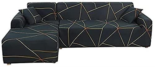 POPXP 1 2 3 4 posti divano copre elastico elasticizzato divano copertura adatto per divano generale soggiorno combinato L forma di divano copertura A9 4 posti lavabile (colore : A5, Misura : 3 posti)