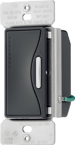 Eaton 9542SG ASPIRE Smart Accessory Dimmer with Preset, Silver Granite