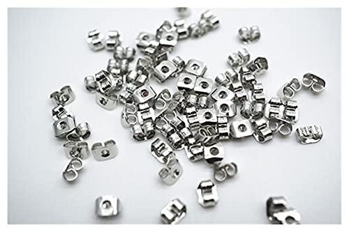 Cómodo 200pcs Pendientes de mariposa trasera Metal Tapper Studs Transposición de orejas para Pendiente DIY Hallazgos de Joyería Accesorios para hacer joyas DIY ( Color : Dull silver , Size : 5mm )