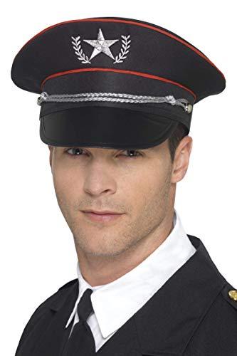 Smiffys Sombrero militar deluxe,Negro,