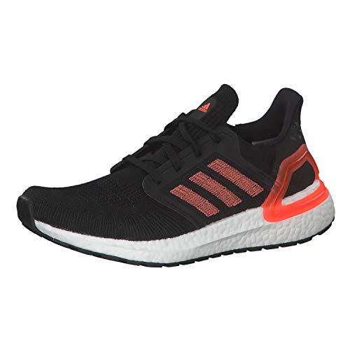adidas Ultraboost 20 W, Women's Competition Running Shoes, Core Black/Signal Coral/Ftwr White, 4 UK (36 2/3 EU)