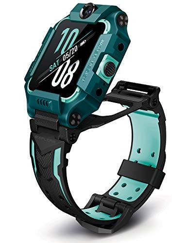 imoo Watch Phone Z6, 4G Teléfono Reloj Inteligente para Niños, Smartwatch Niños con Videollamada, Reloj GPS Niños con Localización en Tiempo Real y Resistencia al Agua para Nadar IPX8(Verde)