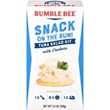 BUMBLE BEE Snack on the Run Tuna Salad with Crackers, Canned Tuna Fish, High Protein Food, 3.5 Ounce...
