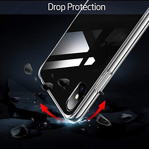 Caler Hülle Kompatibel mit Huawei P20 Pro Hülle Hochwertigem 9H Gehärtetem Marmor Glas Rückseite mit TPU Rahmen Schutzhülle Ultra Dünn Handyhülle Rahmen Hüllen [Stoßfest] Slim Shell Case - 4