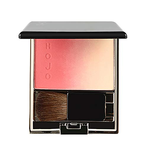 Allbestaye Gradient Blush Palette Rouge Rosa Cheek Natürlich Hochglanz mit Make-up Pinsel
