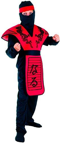 Rire Et Confetti - Fianin014 - Déguisement pour Enfant - Costume Petit Ninja Dragon Rouge - Garçon - Taille S