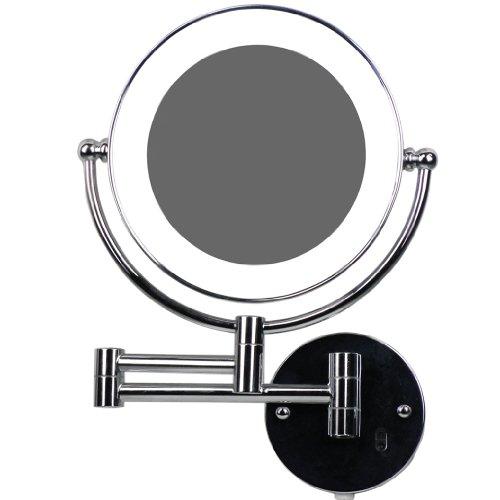 Hochwertiger Luxusspiegel-Badspiegel-Hotelspiegel- LED Beleuchtet wunderschöner Kosmetikspiegel 1:1 Ansicht +10-Fach-Zoom mit Infrarot-Sensor (3cm extra dick)