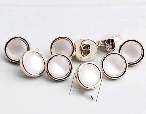 FKSDHDG Bottoni di Perle Rotondi alla Moda da 10 Pezzi Camicie Cucite a Mano Bottoni di plastica Camicie da Donna Accessori per Fibbie Decorative