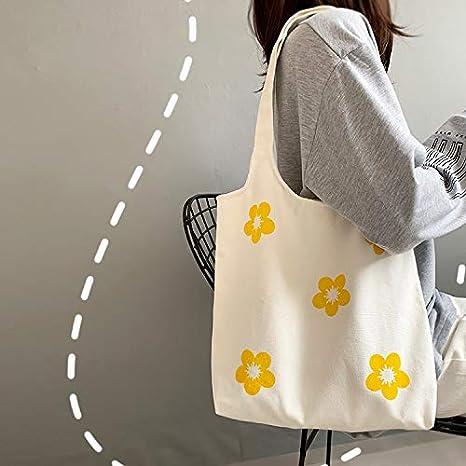 WXXT Sac Cabas,Tote Bag,Grand Tote Bag Coton eco Sacs d/épicerie Sac Course r/éutilisables respectueux de lenvironnement Sac de Shopping pour Les Femmes avec ,(Blanc,Noir,Vert)