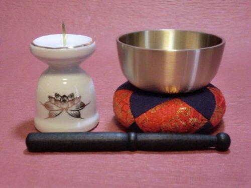 花蓮 仏具セット 7点 金ハス組合せ 小型仏壇 上置き型仏壇に最適 [0126]