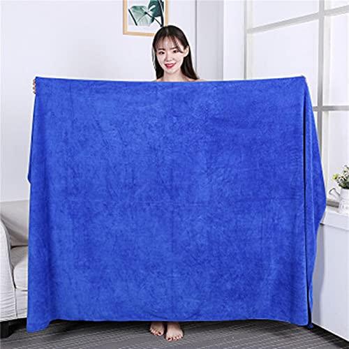 ShSnnwrl Bale Hand Towels Wash 100X200cm Toallas de baño de Microfibra súper Gruesas Super absorbentes, Suaves, de Secado rápido y líneas de bañ