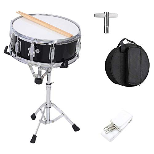 LES AILES DE LA VOIX Snare Drum Set Single Drum Set with Stand,Gig Bag,Stick and Practice Pad Kit for Student Beginner