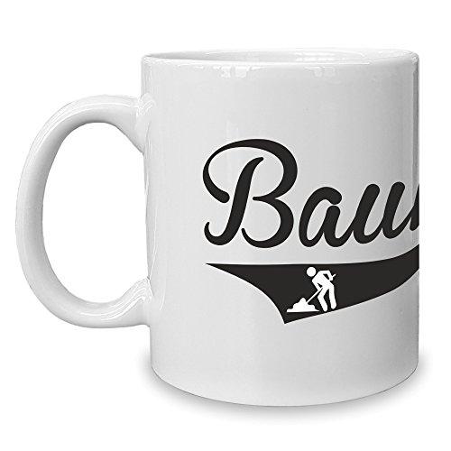 Shirt Department - Kaffeebecher - Tasse - Bauherr Weiss-schwarz