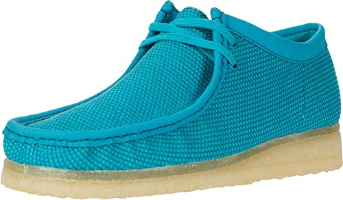 Clarks Wallabee Teal Textile 11