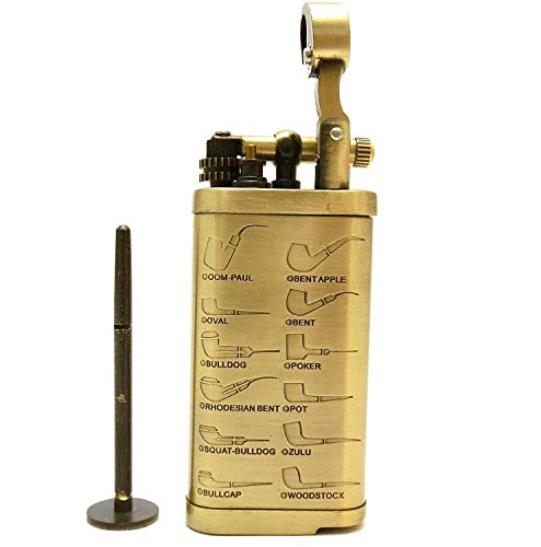 Tobacco Pipe Lighter with Tamper & Pick - All in One - Model LGHT05 Gold