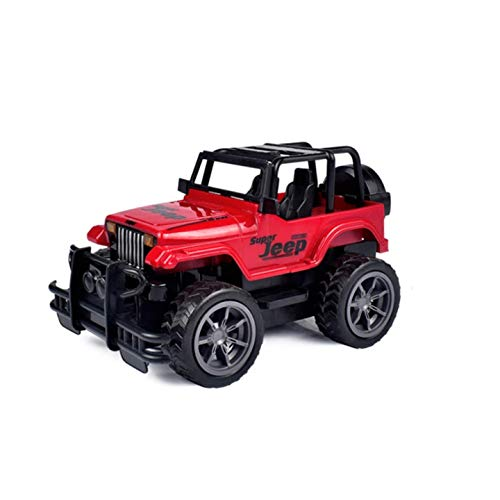 AllSeasons Mini 1/16 2.4G 4CH Remote Control Super Extreme Jeep High Speed Remote Control Toy Super Extreme Jeep Off Road for Boys (Dark Red)