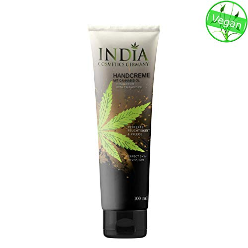 Crema de manos con Cannabis aceite en la piel seco en calidad premium