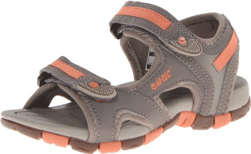 Hi-Tec Kid's GT Strap Junior Sandal (Toddler/Little Kid/Big Kid),Grey/Warm Grey/Peachy,2 M US Little Kid