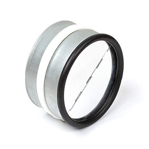 Rückstauklappe 100 mm Lüftungsgitter Edelstahl Einschub in Abluftrohre