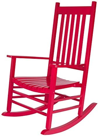 Best Shine Company 4332CP Vermont Rocking Chair, Chili Pepper