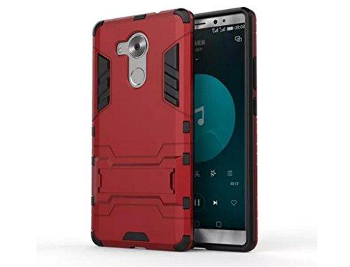 Bllosem Huawei Mate 8 Hülle Hybride Dual-Layer PC+TPU Kompletter Schutz Standfunktion Tasche für Huawei Mate 8 Rot