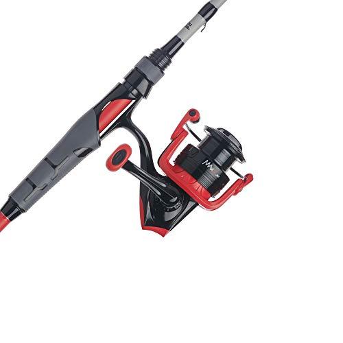 """Abu Garcia Black Max & Max X Spinning Reel y Caña de Pesca Combos Rojo, 5 Tamaño de Carrete - 5'6"""" - Luz - 2pc"""