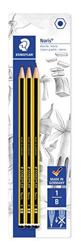 Staedtler 120-1BK3DA Bleistift Noris B, 3 ST, Blisterkarte
