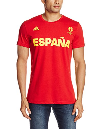 adidas Herren T-Shirt Spanien Graphic, Scarlet, XL