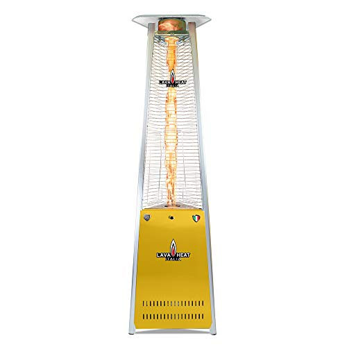 Purchase Lava Heat Italia PLSF50082T Lava LITE 92.5 Triangle Glass Tube Outdoor Heater, Traffic Yel...
