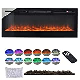 Best Fireplace Inserts - INMOZATA Electric Fire Insert / Wall Mounted With Review