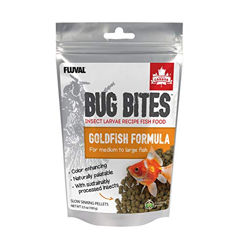 Fluval Bug Bites Goldfish Fish Food, Pellets for Medium to Large Sized Fish, 3.53 oz., A6584