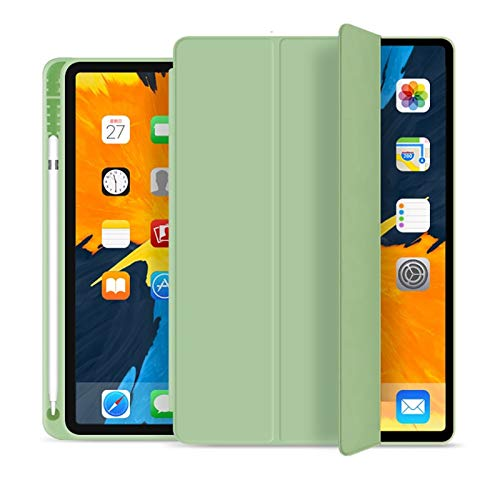 QiuKui Tab Cover For iPad Pro 11 2020, Shockproof Stand Back Shell Protective Tablet Case for iPad Generation 2nd with Film (Color : Light Green)