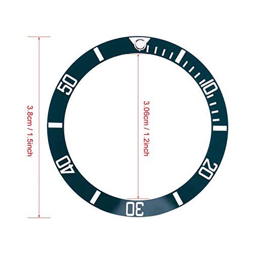 SALUTUYA Bisel de Reloj antidesgaste Diseño liviano Piezas de Repuesto de Reloj Que se utilizan para realzar el Brillo del Reloj Se utilizan para Proteger el Reloj(Tea Green)