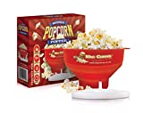 MacCorns Popcorn Maker, Hot Air or Oil Pop Microwave Popper Bowl, Boxed