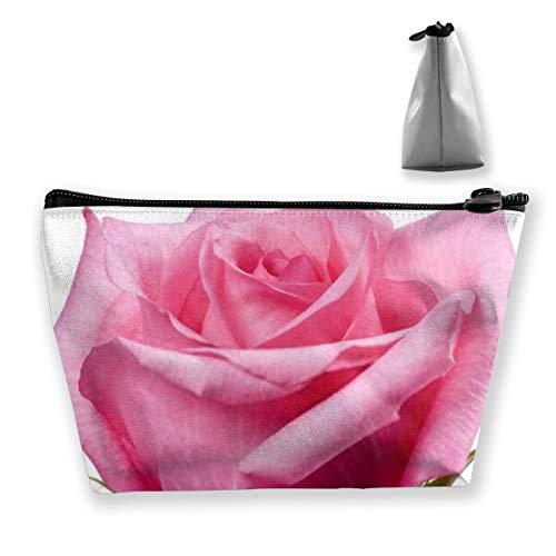 Trousse à maquillage portable avec fond blanc Rose