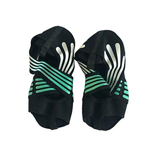 Bloomma Calcetines de yoga, medio dedo de la mujer Puño de cinco dedos antideslizante Suela blanda Zapatos de ballet Yoga Zapatos de Pilates