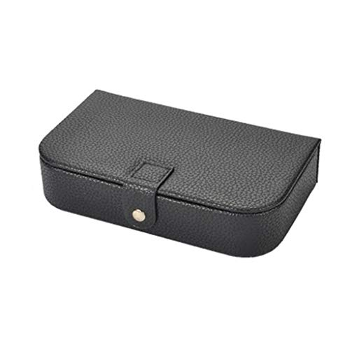 Koobysix Caja de accesorios de joyería caja de almacenamiento de cuero PU para pulseras de collar