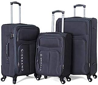 Giordano luggage - 1617616 soft case trolley 3 pcs set with 4 wheel - Navy