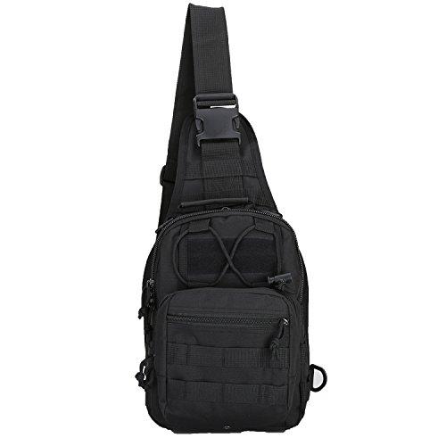 denlix Tactical Sling Bag Chest Pack EDC Molle Backpack Hiking Daypack Men Women