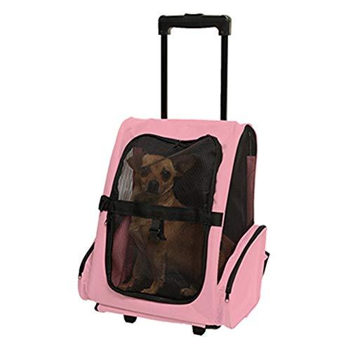 Multifunktions-Trolley für Haustierrucksäcke, Oxford Tragbarer Rucksack für Katzenhunde, Gepäckbox mit Rollen, für Reisetasche im Freien, Sicher und atmungsaktiv, maximale Tragfähigkeit 10 kg-2-
