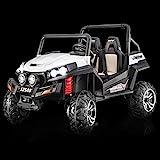 RIRICAR Kinderauto Elektro, NEU RSX Buggy, Weiss, 2 Sitzer, mit 2,4-GHz Fernbedienung, 36 Monate - 8 Jahre, 2x12 V Batterie